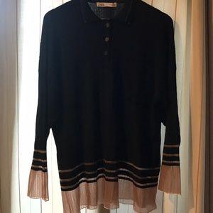 Zara Rayon Oversized Textured Top